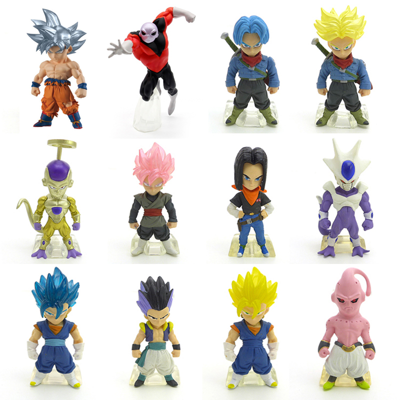 Dragon Ball Super ALL CHARACTERS Ultra Instinct Goku Jiren Frieza Android 17 PVC Action Toy Figures Most animated anime ...