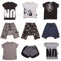 2017 ins hot-selling nununu t shrits verão harem pants roupas de bebê menino menina roupa do bebê crianças roupas de verão sets vetement