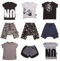 2017 ins nununu caliente-venta t shrits verano pantalones harén pantalones del bebé ropa de bebé ropa de la muchacha niños ropa de verano sets vetement