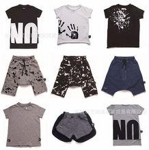 2017 summer time KIDS CLOTHING SET nununu t shrits harem pants child boy garments child lady garments youngsters summer time clothes units vestidos