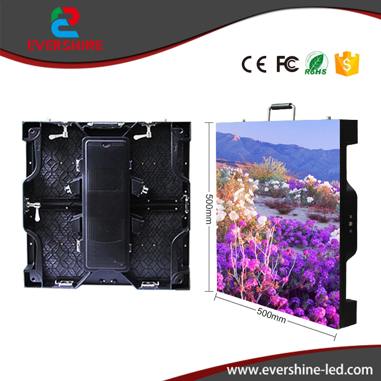 Indoor P3 91 SMD 500x500mm LED Display Die Cast Aluminum Cabinet Indoor Led Video Rental Advertising