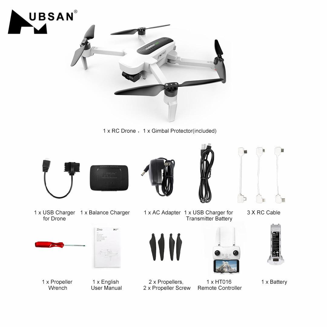 Hubsan H117S Zino GPS Drone RC 5.8G 1 KM FPV avec caméra 4 K UHD 3 axes cardan quadrirotor aéronef sans pilote (UAV) RTF GPS + GLONASS hélicoptères jouets