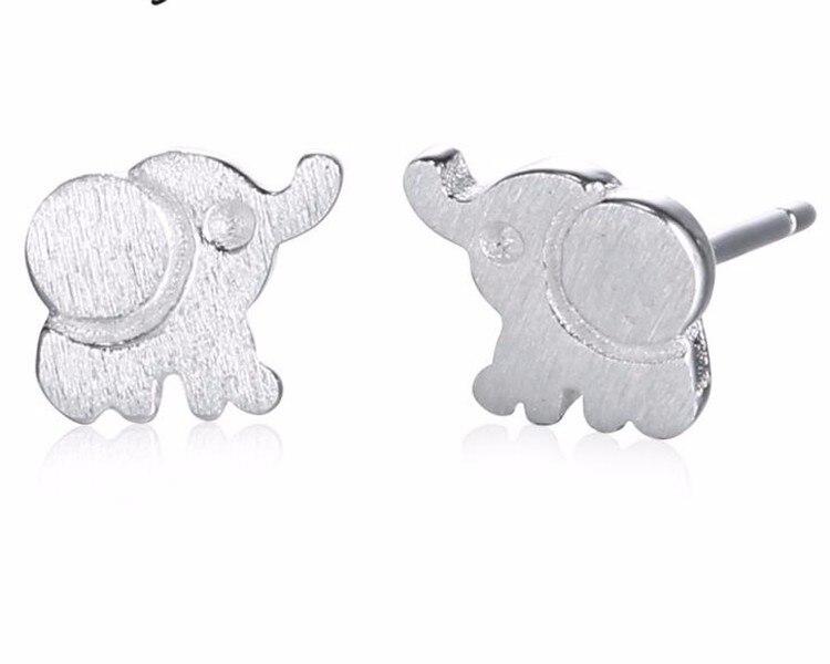 GX1 elefante earring925 plata enviar witg buena calidad 6mm pendiente mujeres jewerry para regalo amante