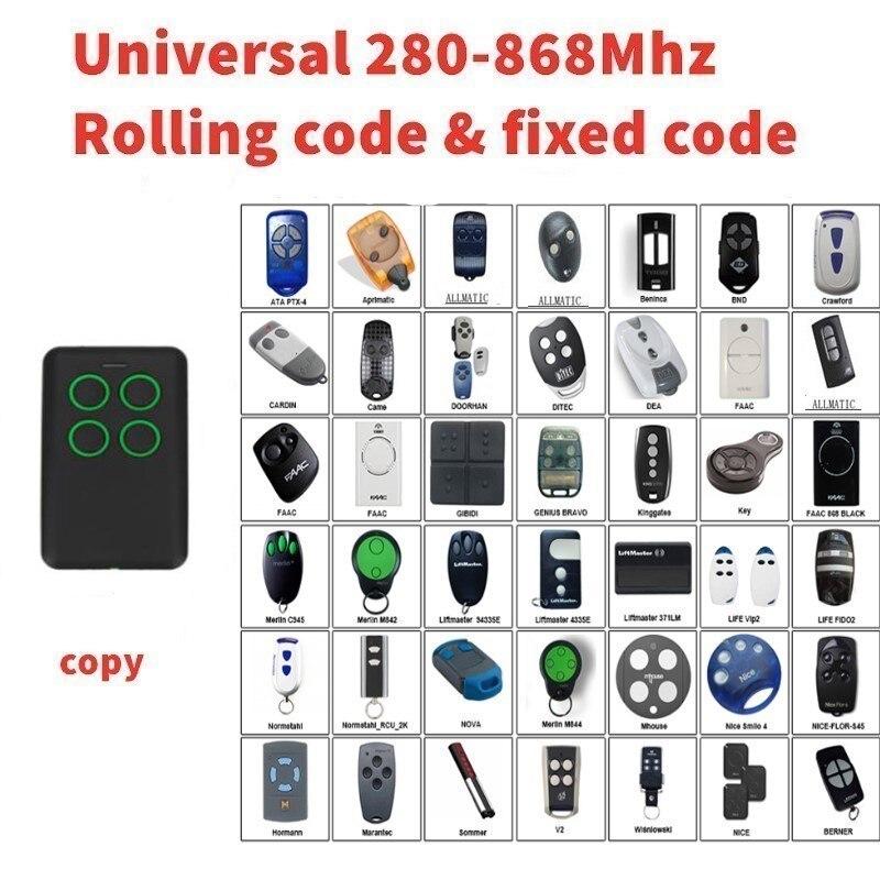 2pcs Multi frequency 280-868mhz clone for  DITEC DEA garage door remote control 2pcs Multi frequency 280-868mhz clone for  DITEC DEA garage door remote control