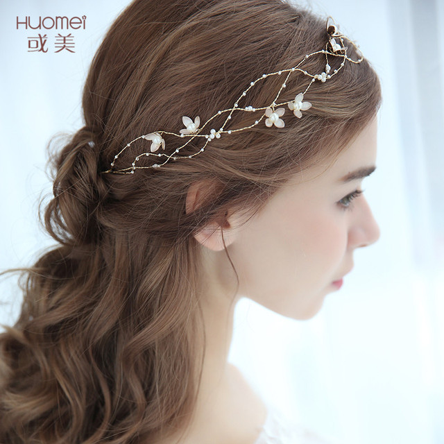 55808672b New Cute Bridal Hairbands Fashion Handcrafted Headbands Hair Jewelry  Accessories for Women Wedding Prom Party Golden Headpiece