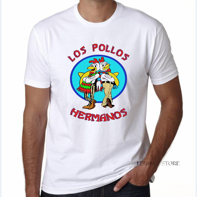 470bcbaa1 LEOMAN Fashion Los Pollos Hermanos T Shirt Men's Breaking Bad Chicken  Brothers T-shirts Boys