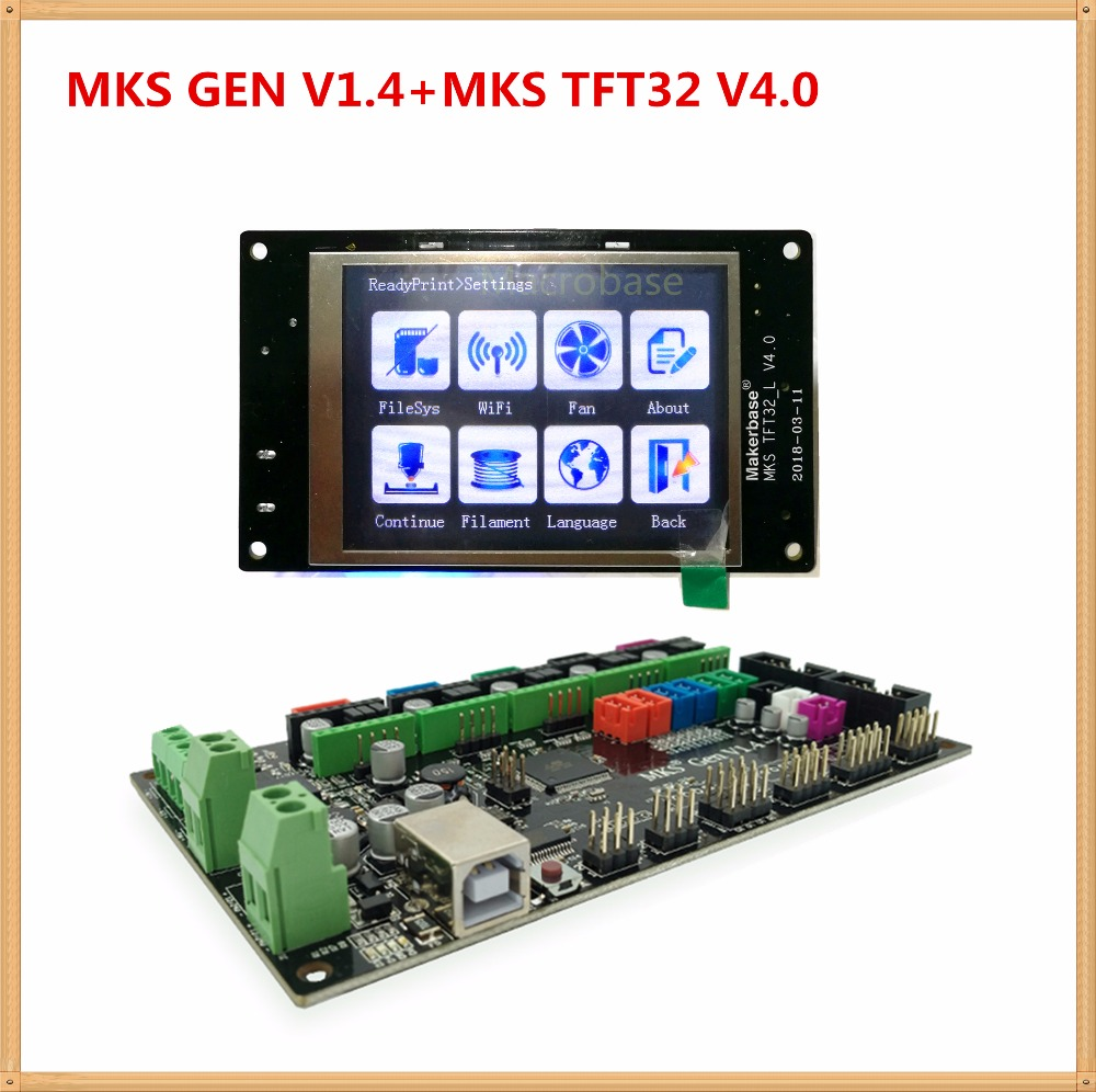 MKS GEN controller with MKS TFT32 colorful touch screen 3d printer DIY starter kit mega 2560 mainboard stm32 lcd Kossel kits 3d printer kit motherboard mks base mks tft32 touch screen all in one controller starter kits imprimante reprap control panel