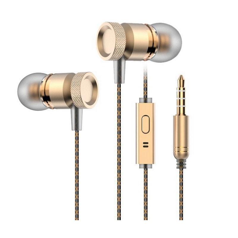 ФОТО Alloy HiFi Microphone earphone Professional In-Ear Earphone Metal Heavy Bass Sound Music Earphone High-End Headset fone de ouvid