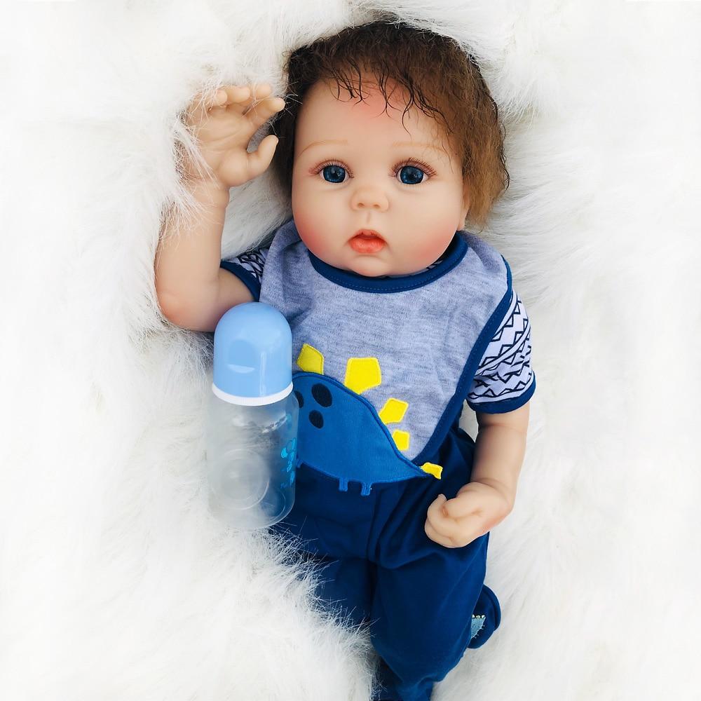 20/'/'Handmade Lifelike Baby Girl Doll Silicone Vinyl Reborn Newborn Dolls+Clothes