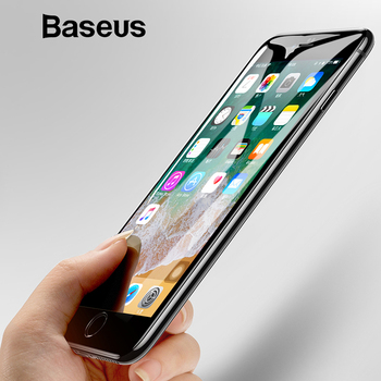 Baseus Protective Glass For iPhone 8 7 Plus Screen Protector 0.3mm Thin Full Coverage Tempered Glass For iPhone 7 7 Plus Glass