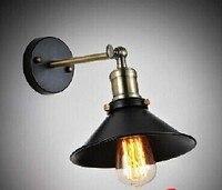 Envío Gratis  iluminación artística industrial E27  lámpara de pared edison  jaula de hierro negro vintage acabado  accesorio de iluminación para decoración del hogar