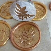 Leaf FLOWER Wax Seal Stamp Envelope Seal DIY Sealing Wax Stamp Vintage Custom Design Box Set