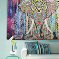 Indian Elephant Mandala Tapestry Throw Towel Hippie Tapestry Floral Printed Home Decor Wall Tapestries Bedspread Drop Shipping
