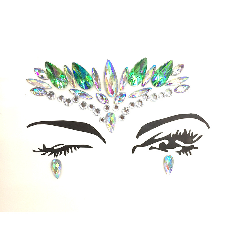 New DIY Face Jewelry Body Tattoo Drill Acrylic Drill Make up Eyes Paste Nightclub Music Performance DanceParty Temporary Tattoos in Temporary Tattoos from Beauty Health