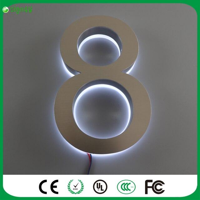 Custom LED Verlichting Doorplate Lamp Huisnummer Licht ...