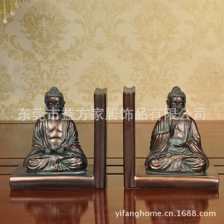 European and American home-style Buddha like a book by an author ornaments resin crafts decorations gifts image