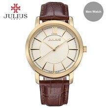 ساعة رجالية مقاومة للماء من Julius ساعة رجالية باللون الذهبي والفضي ساعة عمل رجالية ساعة يد ساعة يد ساعة يد JA 808