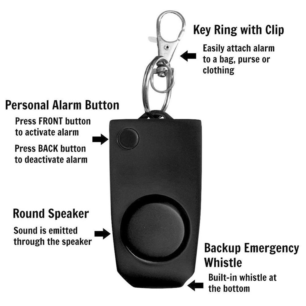 Image 5 - Self Defense mujer defensa personal safety alarm security wolf auto alarme seguridad anti rape whistle 130dB sound loud Keychain-in Self Defense Supplies from Security & Protection