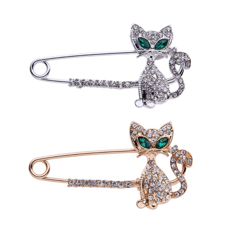 Pin By Canrenv58 On Fashion: Crystal Little Fox Brooches For Women Fashion Rhinestone