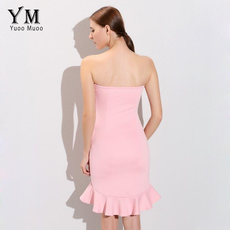 YuooMuoo 2016 New Strapless Women Dress Korean Ruffles Design Cute ...