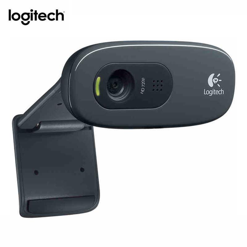 لوجيتك C270 HD كاميرا شبكة الفيديو مؤتمر واسعة زاوية فيد 720P كاميرا مع المدمج في المسجل Micphone USB 2.0 واجهة كمبيوتر محمول PC