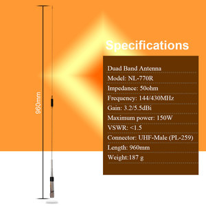 Image 5 - Nagoya NL 770R DUAL BAND אנטנה נייד 144/430Mhz עבור QYT KT 8900 KT 8900D Baojie BJ 218 BJ 318 רכב נייד רדיו