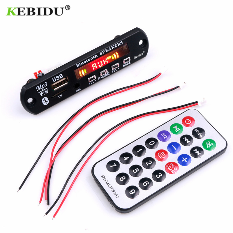 Image 2 - KEBIDU 5V Bluetooth MP3 Player Decoder Board  Color Screen for Car Kit FM Radio TF USB 3.5mm AUX Audio Module Record Hands free-in HiFi Players from Consumer Electronics