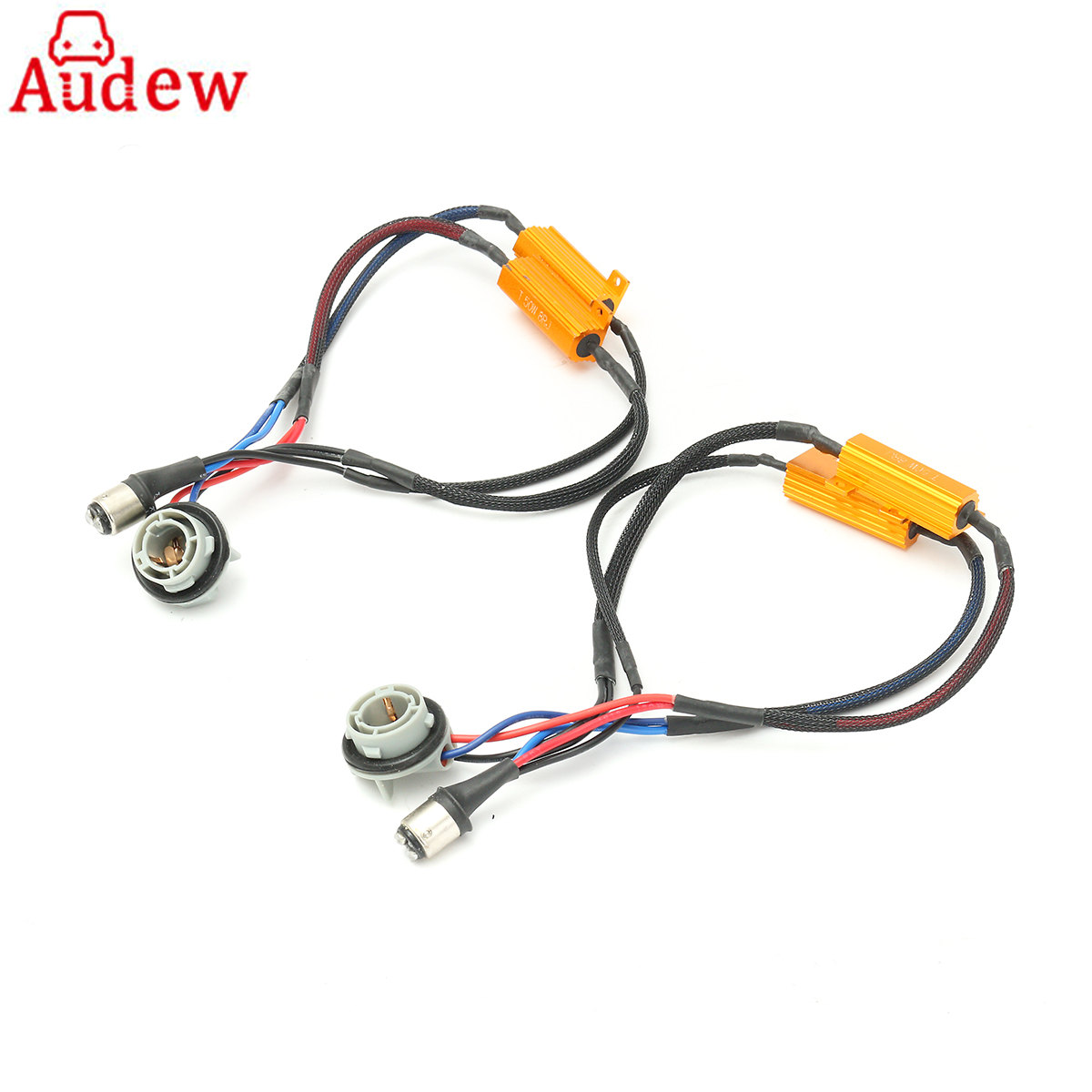 2pcs 1157 Led Decoder No Error P21 5w Wiring Adapter Load Resistor Lighting Turn Signal Light Canceller In Car Accessories From Automobiles