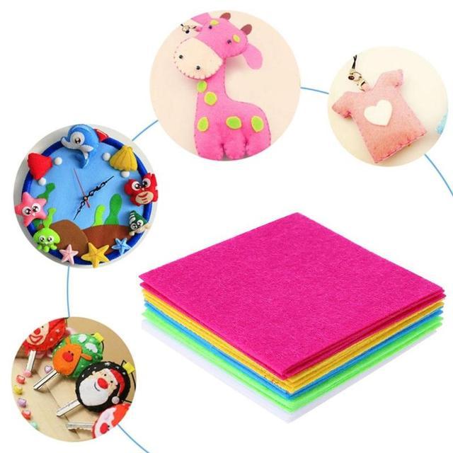 10 шт 40x50 см красочные полиэстер нетканый мат ткань для детей Ручное шитье для поделок подушка для сумки Войлок Ткань