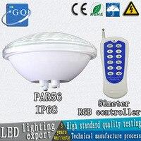 Ip68 par56 piscina luz 24 w 36 w DC12v AC12V subaquática luzes fonte lâmpada ao ar livre à prova d' água quente/frio branco conduziu a lâmpada