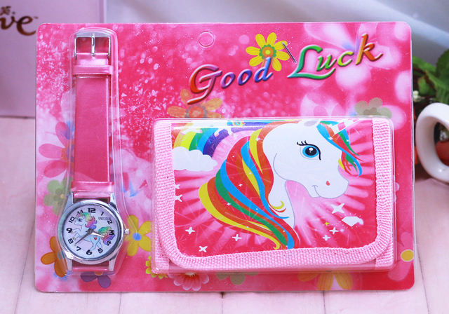 Unicorn kids Watch Digital watch Wallet for kids Girls watches Cute Unicorn Girl