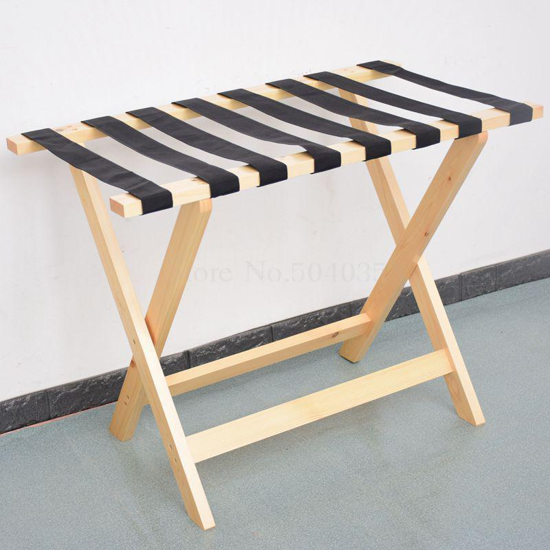 Solid wood luggage rack hotel floor folding racks home bedroom put sleep clothes simple shelves - Цвет: VIP 12