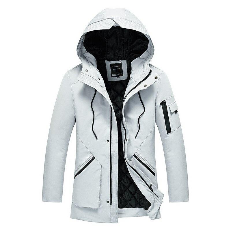Hiver à capuche velours hommes Parka veste coupe-vent bonne qualité épais coupe-vent décontracté manteau hommes 2019 chaud mâle Parkas 5XL