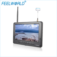 FPV718 7 Inch IPS FPV Monitor 1024x600 Dual 5.8G 32CH Diversity Receiver Black Color Feelworld Hdmi Monitor LCD Monitors(China (Mainland))