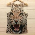 New Mens 3D Tank Top Undershirt Summer Animals Pharaoh Print T-shirt Tee Blouse Tops Leasure Waistcoat Vest