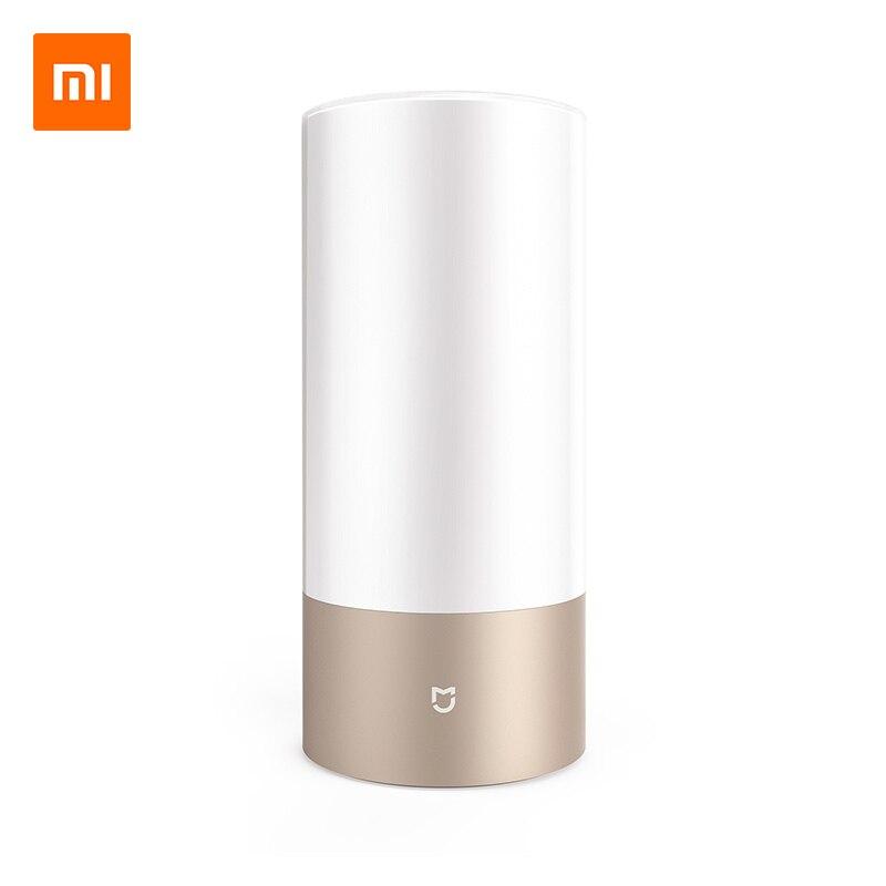 Original Xiaomi Mijia LED Smart Bedside Light Touch Dimmable Desk Lamp Bluetooth WiFi Dual Control By Mi Home APP RGB Color original xiaomi mi night yeelight smart led lamp wifi remote control rgb light e27 colorful smart home illumination led bulb
