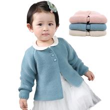 Dziewczynek sweter płaszcz jesień wiosna noworodka swetry rozpinane dla dziewczynek dzianiny dziewczynek kurtka i płaszcz odzież wierzchnia swetry tanie tanio Dzieci ka3352 Dziewczyny REGULAR O-neck Pełna Pasuje prawda na wymiar weź swój normalny rozmiar NONE COTTON Otwórz stitch