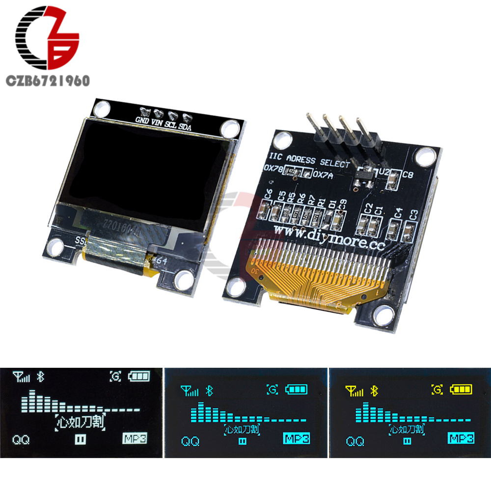 I2C IIC Serial 128X64 0.96 OLED LCD LED Display Module 0.96 inch 12864 Screen Board SSD1306 GND VCC SCL SDA for Arduino STM32