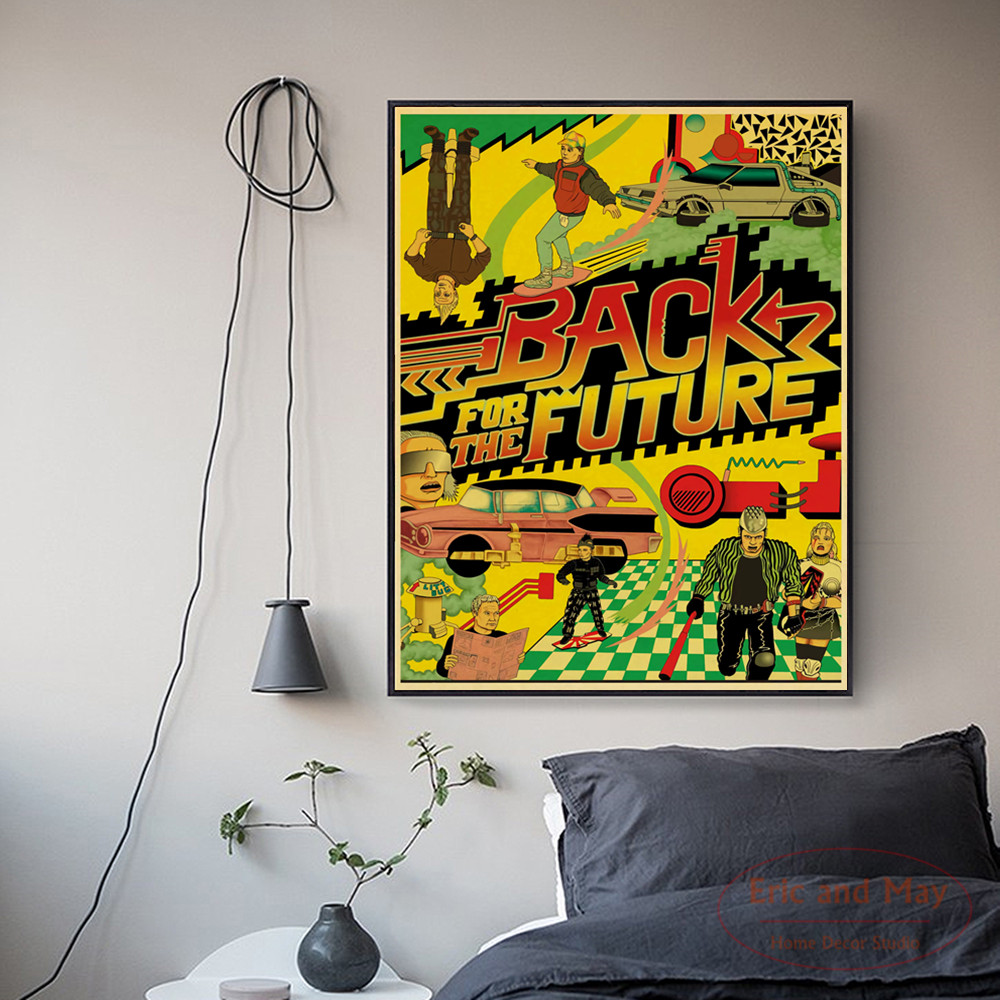 Back To The Future Sci fi Movie Art Posters And Prints Canvas Art Decorative Wall Pictures For Living Room Home Decor Painting in Painting Calligraphy from Home Garden