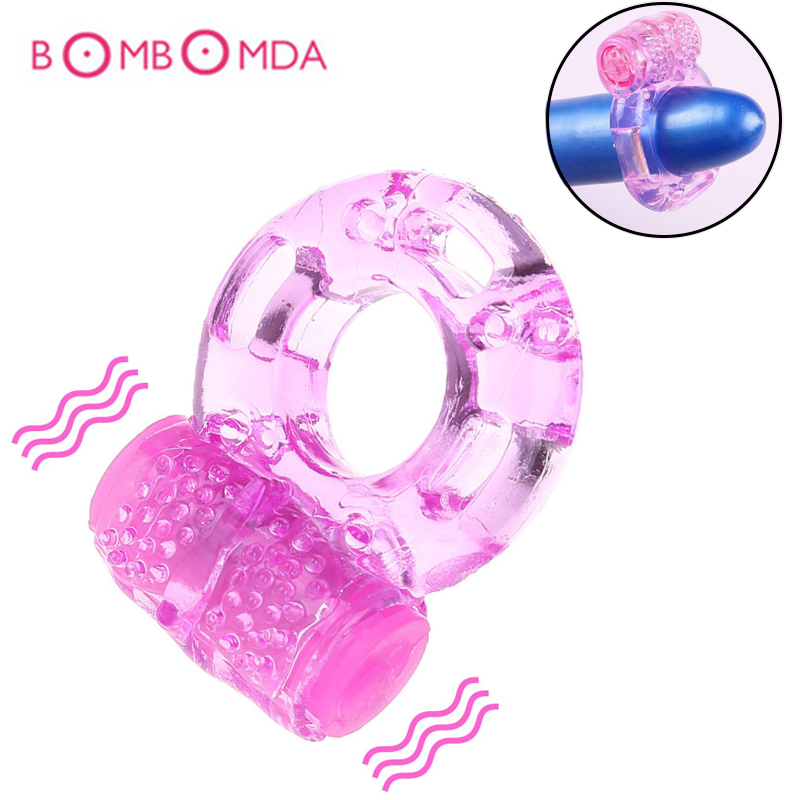 Penis Ring Vibrator Adult Sex Toys For Men Couples Delayed Ejaculation Penis Enlargement Lasting Cock Ring For Male Masturbation