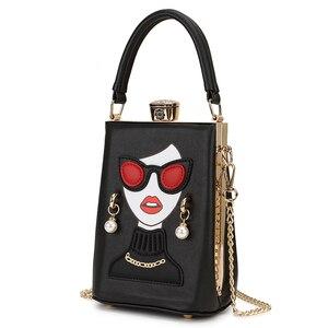 Image 2 - نظارات عالية الجودة مثير امرأة نمط بولي Casual المرأة عادية محفظة حقيبة يد حقيبة كتف الإناث مستحضرات التجميل حقيبة كروسبودي بولسا