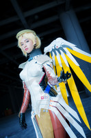 New OW Game Mercy Angela Ziegler Latex Clothes Custom Made Cosplay Costume Highly Reductive F