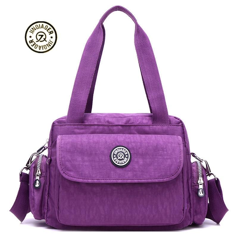 2018 nya nylon Vattentäta Kvinnor över axelväskor Mode och fritid brevväskor lyxiga handväskor kvinna väskor designer