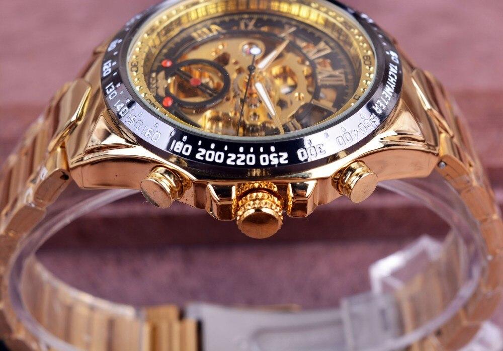 Winner New Number Sport Design Bezel Golden Watch Mens Watches Top Brand Luxury Montre Homme Clock Men Automatic Skeleton Watch 5
