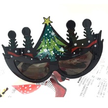 New Christmas tree modeling glasses party Funny eyewear For Xmas makeup MFC-008