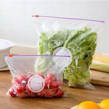 10 шт./компл. многоразовые свежий Еда консервант сумка zip-закрытом уплотнения мешок холодильник фрукты контейнер замка застежка-молнии полиэтиленовый пакет мешок с застежкой-молнией