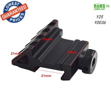 1pc Y25 Tactical 45 Degree 21mm Rail Mount Universal Picatinny Rail Weaver Quick Release Off set hunting mount