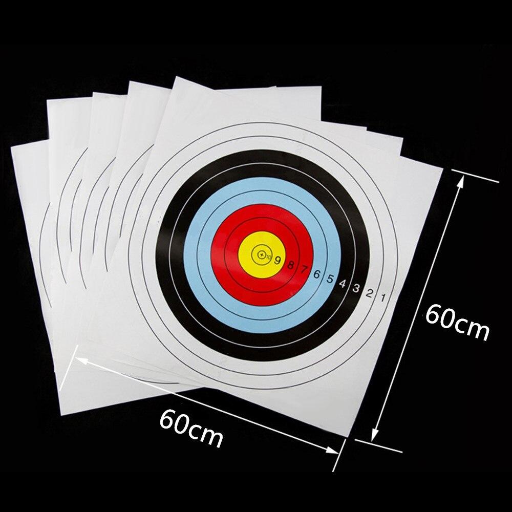 Tiro com Arco Folha de Papel Prática de Alvo Papel Alvo Tiro Bullseye Pracice Anel Completo Iniciante 10 Pçs 60*60cm