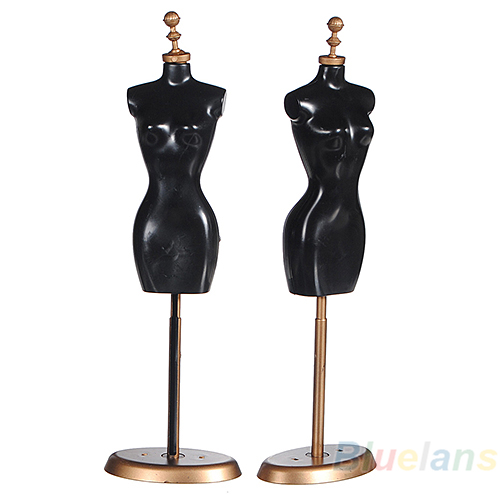 Display Holder Dress Clothes Gown Mannequin Model Stand 9.8 For Barbie Doll 92NW new 2pcs female right left vivid foot mannequin jewerly display model art sketch