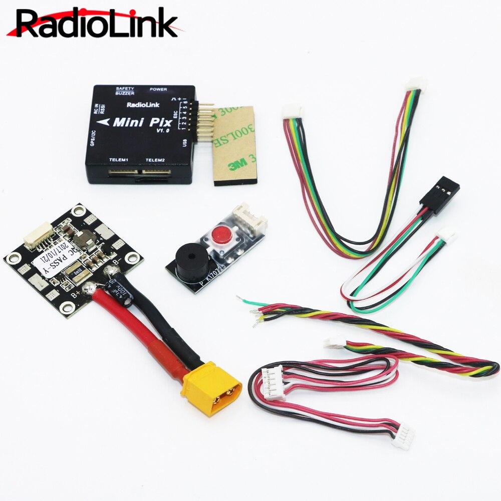 Radioenlace Mini PIX de Control de vuelo V1.0 configuración superior amortiguación de vibraciones por Software actitud espera para Pixhawk RC Racer aviones no tripulados